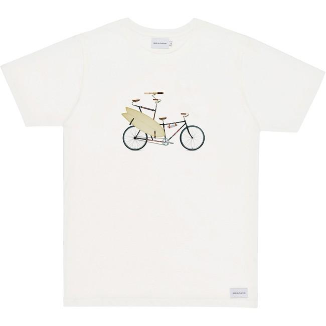 T-shirt en coton bio natural surfbike - Bask in the Sun
