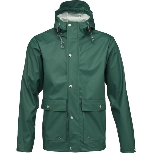 Imperméable vert en polyester recyclé - Knowledge Cotton Apparel