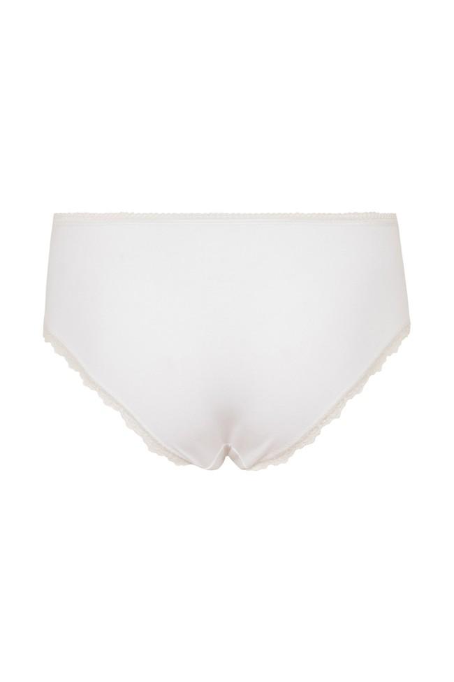 Culotte blanche en coton bio - lace hipster - People Tree num 3