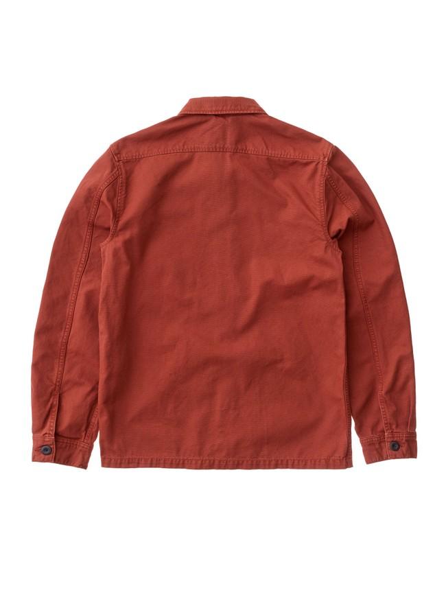 Veste zipée rouge en coton bio - sten zip - Nudie Jeans num 5