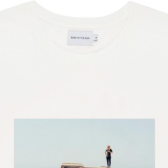 T-shirt en coton bio natural desert boat - Bask in the Sun num 1