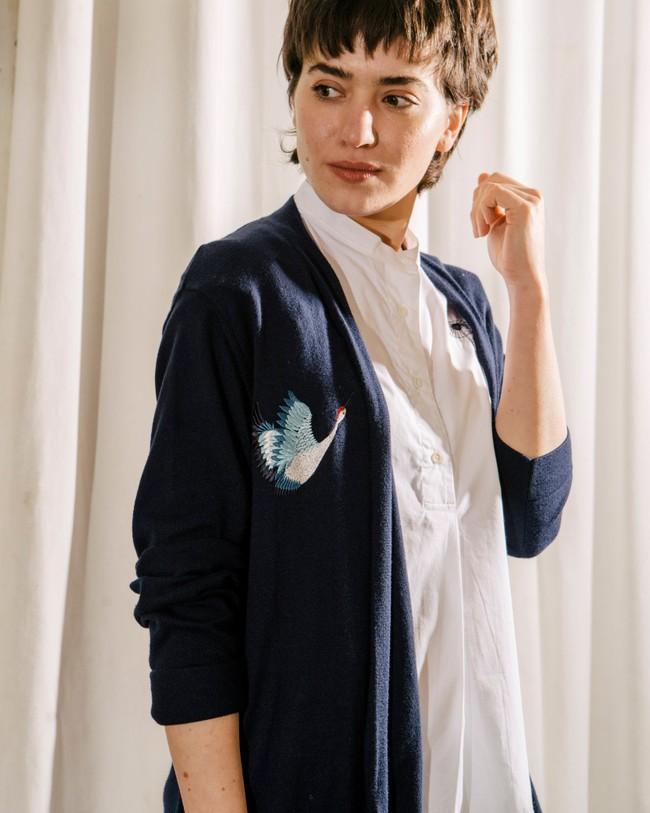 Crane for luck oversized cardigan - Brava Fabrics num 6