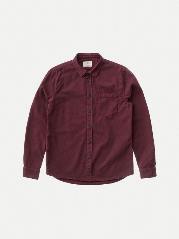 Chemise figue en coton bio - henry - Nudie Jeans num 4