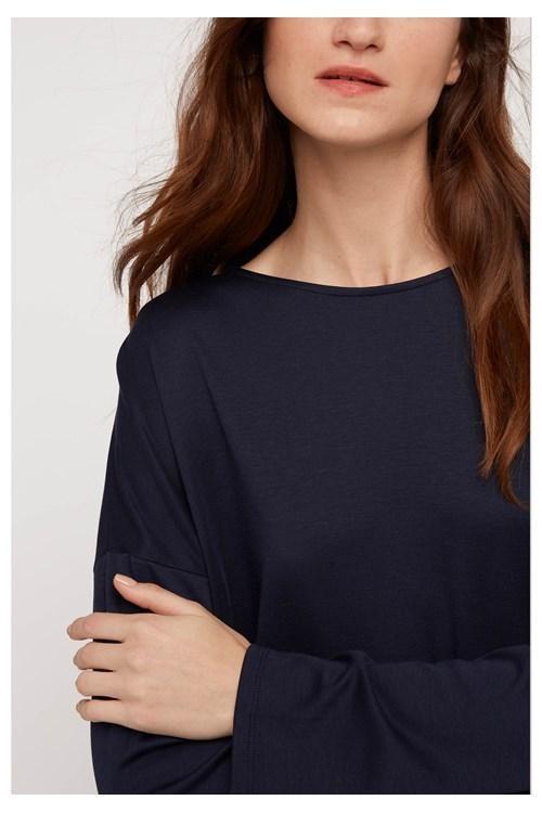 T-shirt à manches longues marine en tencel et coton bio - leigton - People Tree num 2