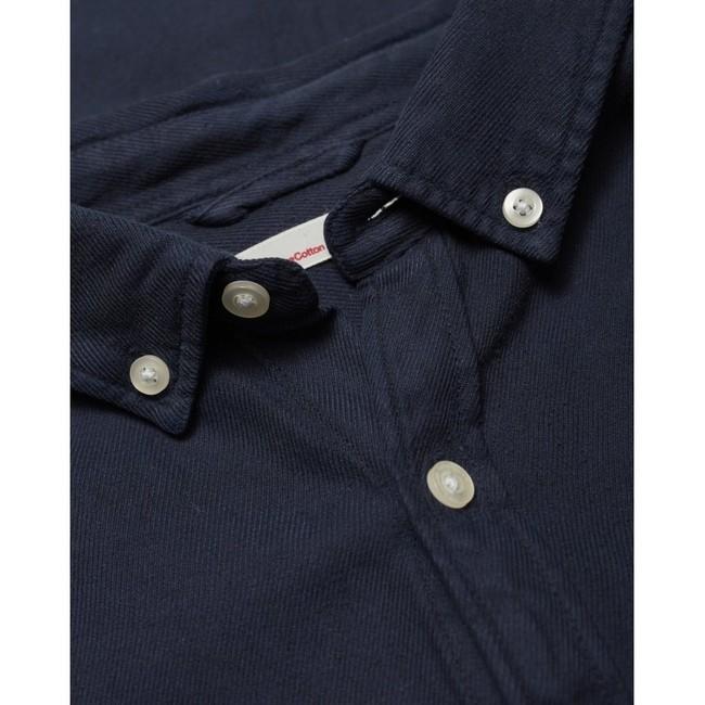 Chemise à manches courtes bleu nuit en tencel et coton bio - larch - Knowledge Cotton Apparel num 3