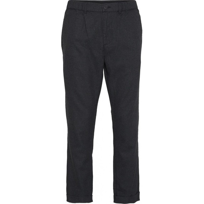 Pantalon à carreaux gris en tencel et coton bio - Knowledge Cotton Apparel