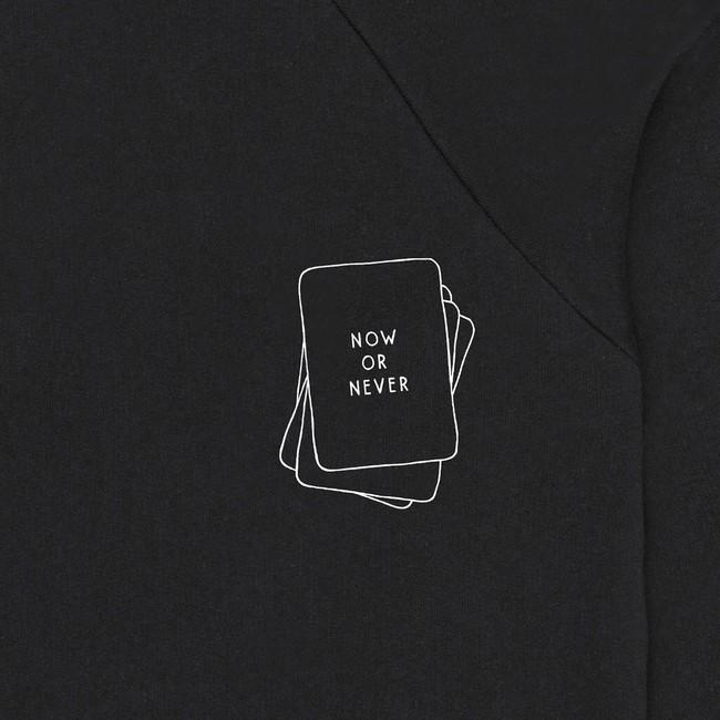 Sweat en coton bio black cards - Bask in the Sun num 2