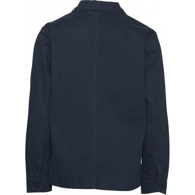 Surchemise bleu nuit en coton biologique - pine - Knowledge Cotton Apparel num 1