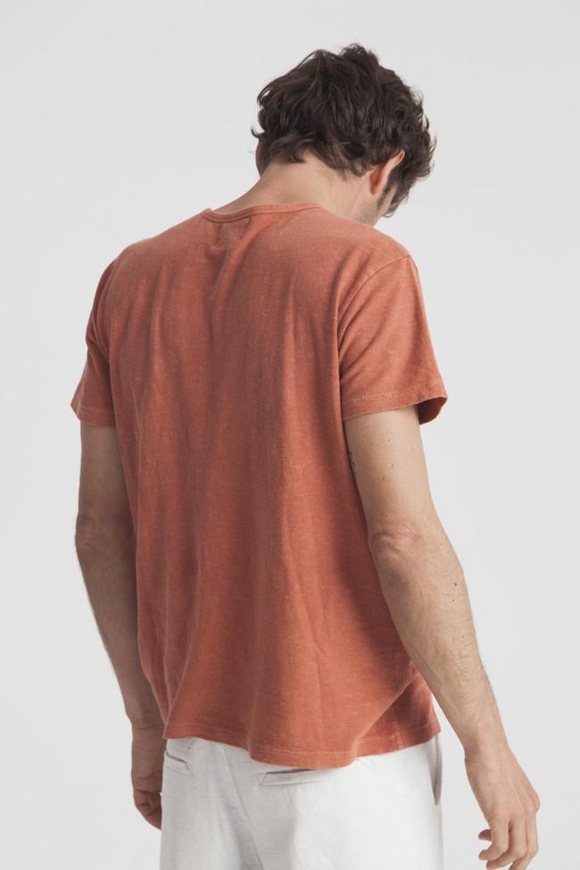 T-shirt terracota en chanvre et coton bio - Thinking Mu num 1