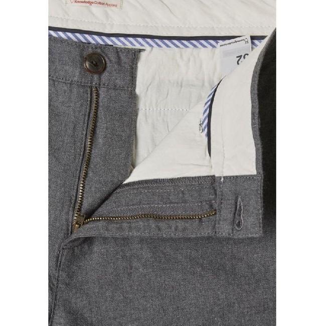 Chino droit flanelle gris en coton bio - chuck - Knowledge Cotton Apparel num 2