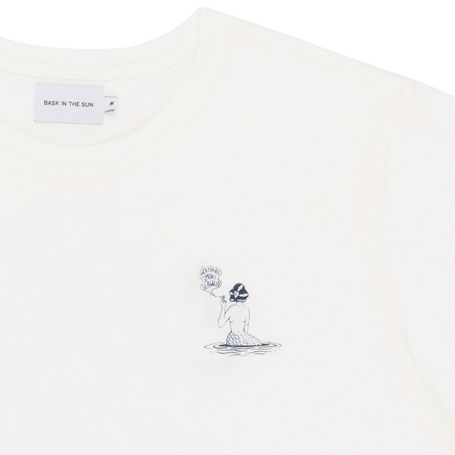 T-shirt en coton bio white mermaid - Bask in the Sun num 1