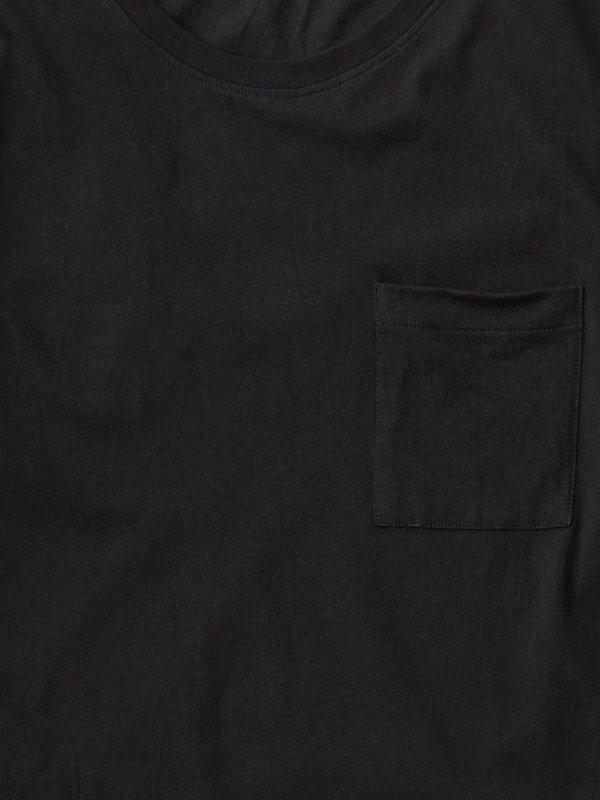 T-shirt manches longues à poche noir en coton bio - rudi - Nudie Jeans num 4
