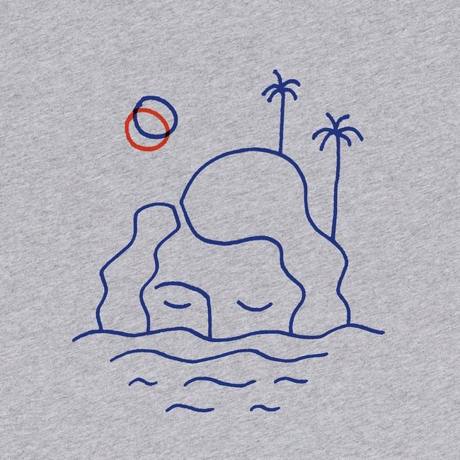 T-shirt grey isla - Bask in the Sun num 2