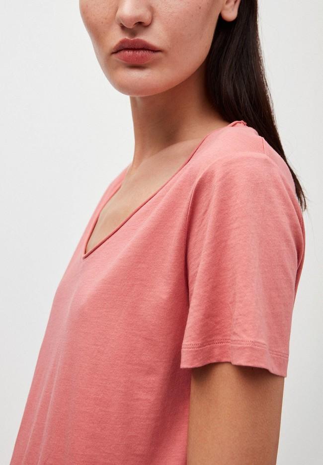 T-shirt rose en coton bio - haadia - Armedangels num 1