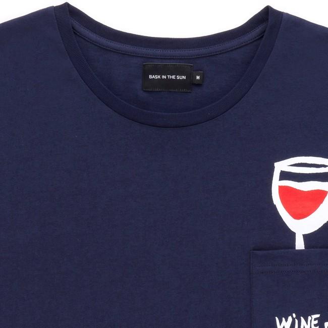 T-shirt en coton bio navy wine - Bask in the Sun num 1