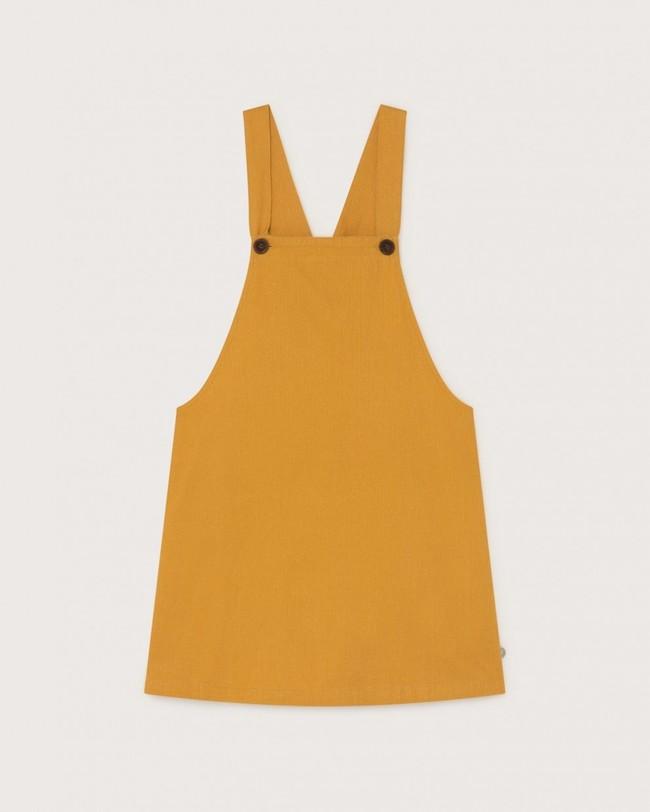 Robe salopette moutarde en chanvre et coton bio - amelie - Thinking Mu num 4