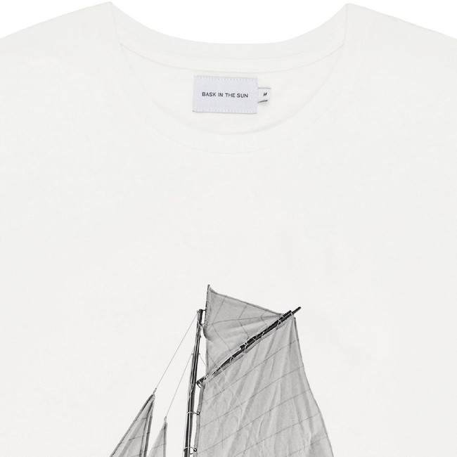 T-shirt en coton bio natural sardine - Bask in the Sun num 1