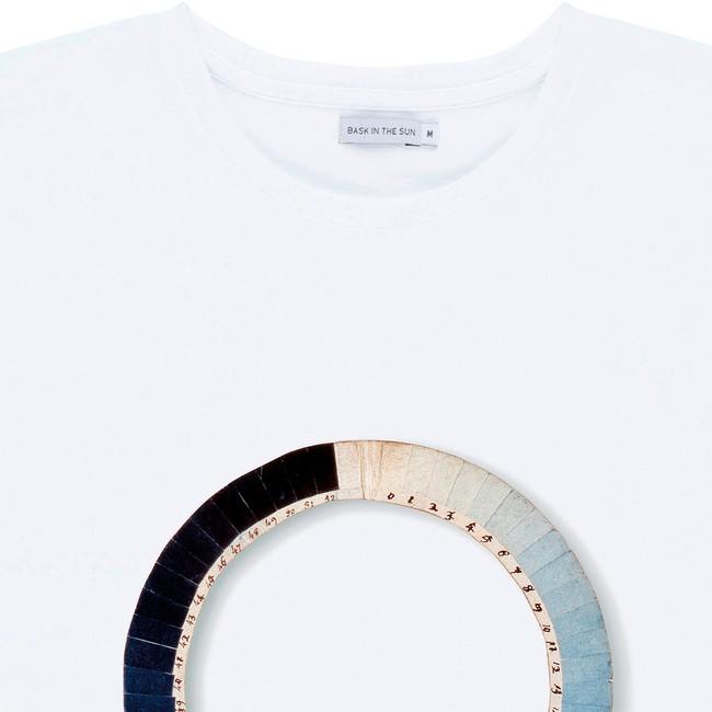 T-shirt en coton bio white cyanometre - Bask in the Sun num 1