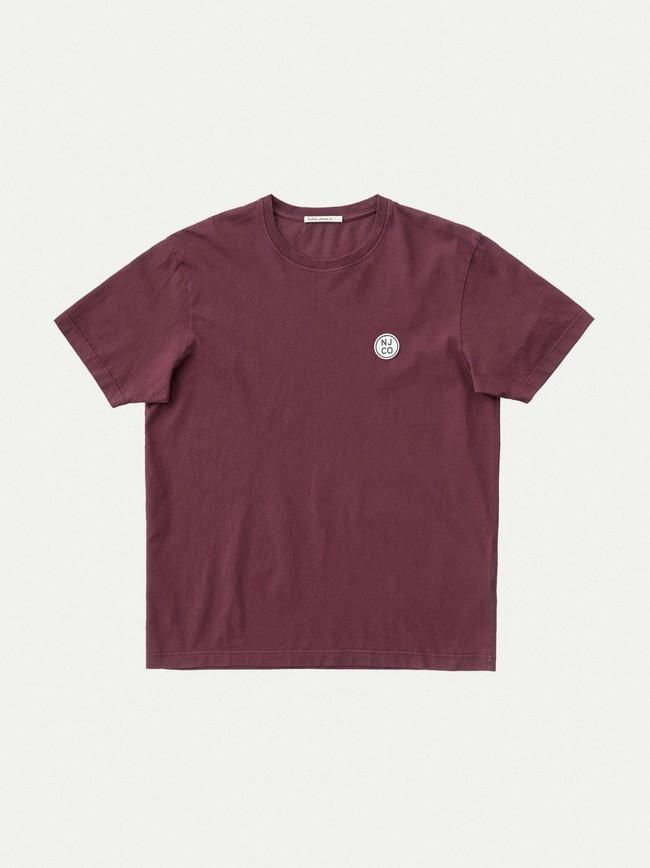 T-shirt ample figue en coton bio - uno njco circle - Nudie Jeans num 3