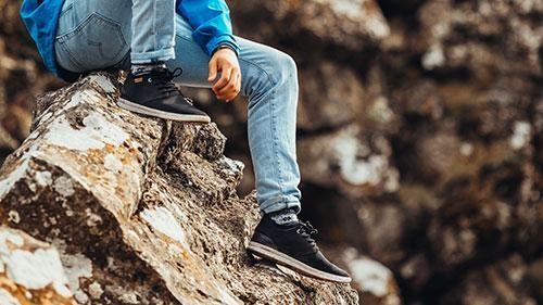 Chaussures recyclées semnoz homme noir - Saola num 1