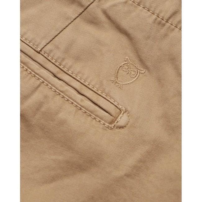 Chino droit camel en coton bio - chuck - Knowledge Cotton Apparel num 3
