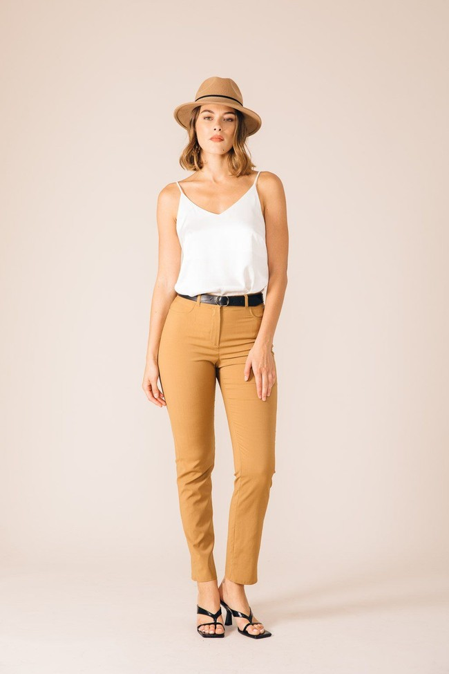 Pantalon tailleur new york camel - 17h10