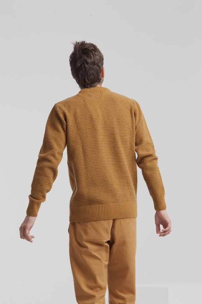 Pull marron en laine fine - miki - Thinking Mu num 3