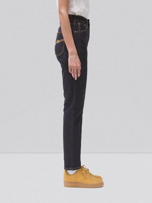 Jean droit taille haute brut en coton bio - breezy britt rinsed original - Nudie Jeans num 2