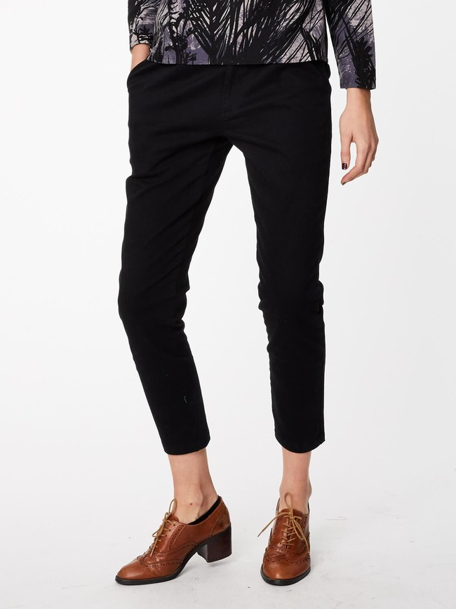 Pantalon noir en twill de coton biologique - Thought