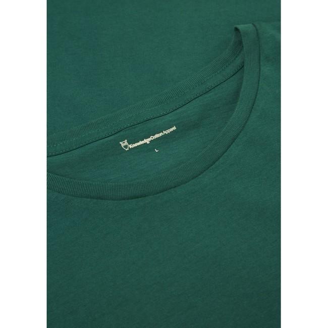 T-shirt vert en coton bio - Knowledge Cotton Apparel num 3
