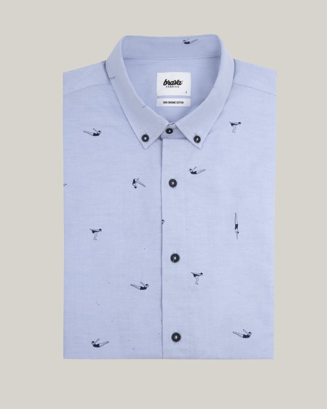 Vintage swimmer printed shirt - Brava Fabrics num 1
