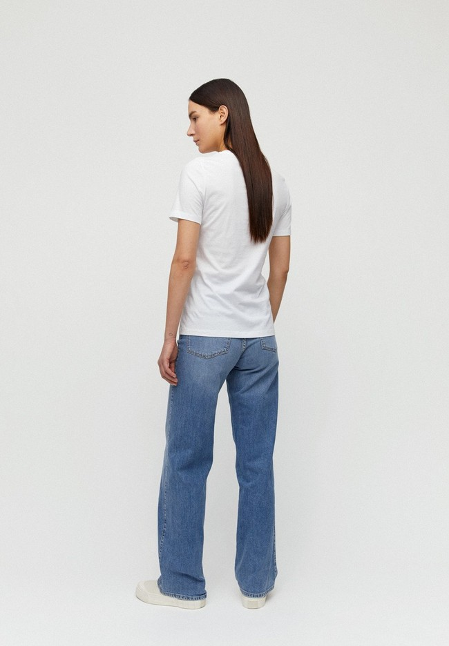 T-shirt imprimé blanc en coton bio - lidaa small elements - Armedangels num 3