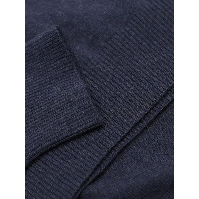 Pull à col roulé bleu en coton bio et cachemire - roll neck - Knowledge Cotton Apparel num 3