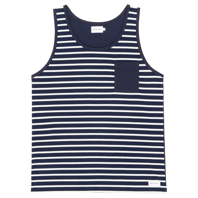 T-shirt navy zarautz - Bask in the Sun