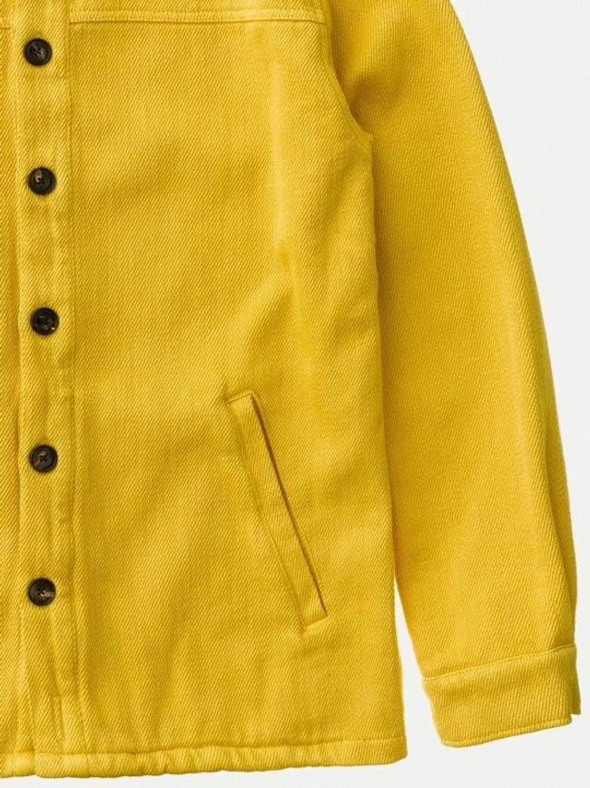 Surchemise jaune twill en coton bio - elias - Nudie Jeans num 5