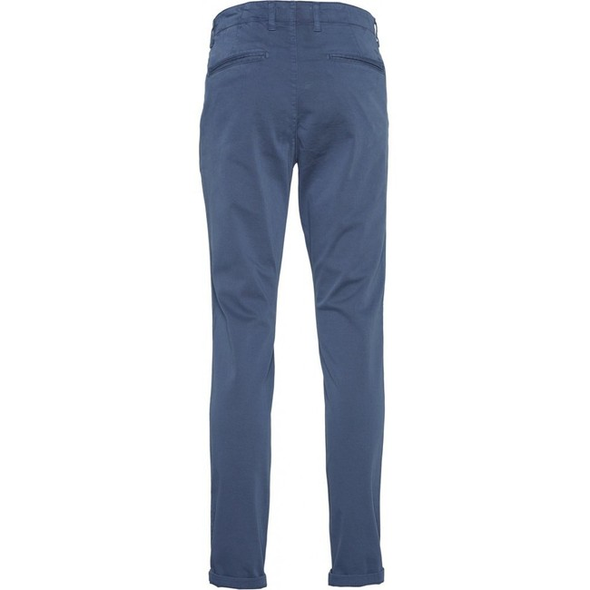 Chino slim indigo en coton bio - joe - Knowledge Cotton Apparel num 1
