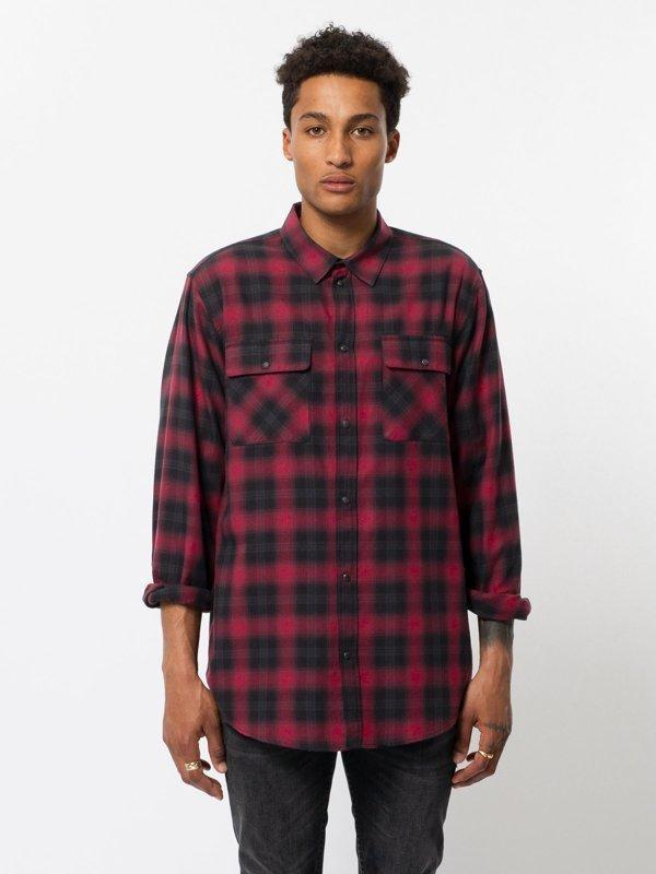 Chemise à carreaux rouge et noir - gabriel - Nudie Jeans num 1