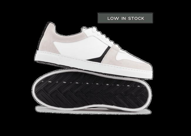 Chaussure en glencoe cuir blanc / suède off-white - Oth