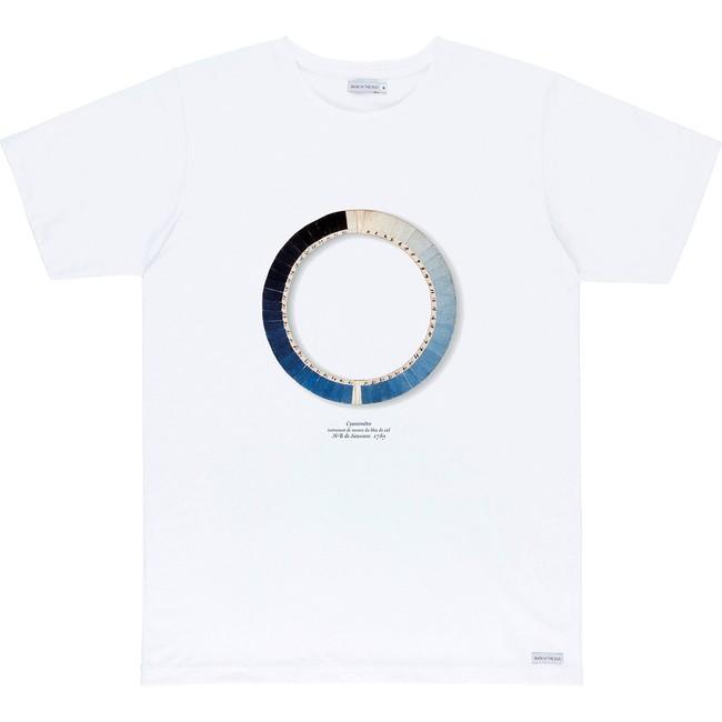 T-shirt en coton bio white cyanometre - Bask in the Sun