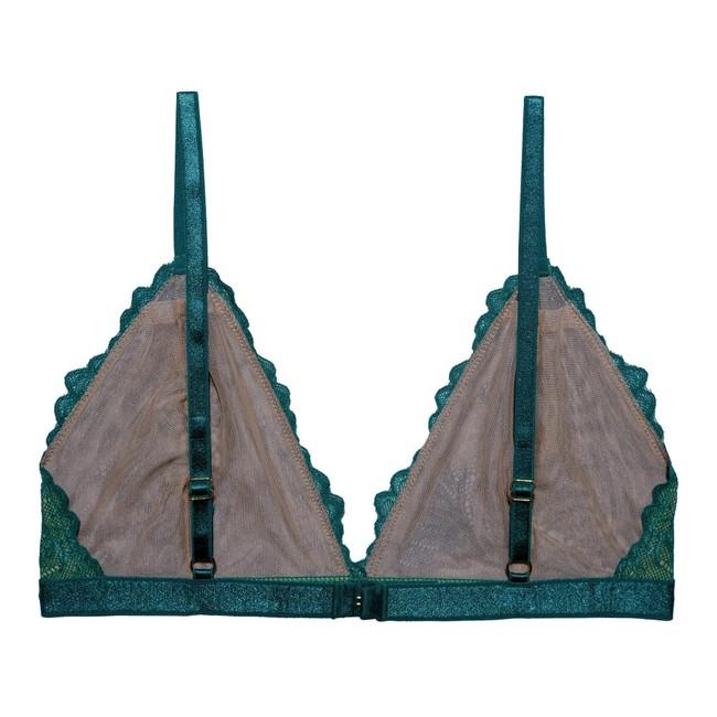 Soutien-gorge en dentelle turquoise en élasthanne recyclé - lima - Underprotection num 3