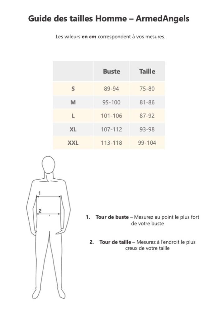 Guide de taille Armedangels