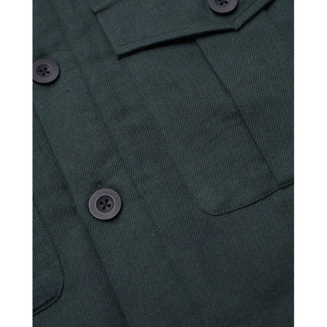 Surchemise vert forêt en coton bio et polyester recyclé - pine - Knowledge Cotton Apparel num 2