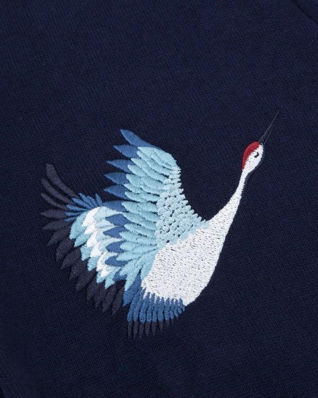 Crane for luck oversized cardigan - Brava Fabrics num 2