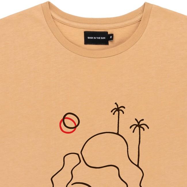 T-shirt en coton bio sand isla - Bask in the Sun num 1