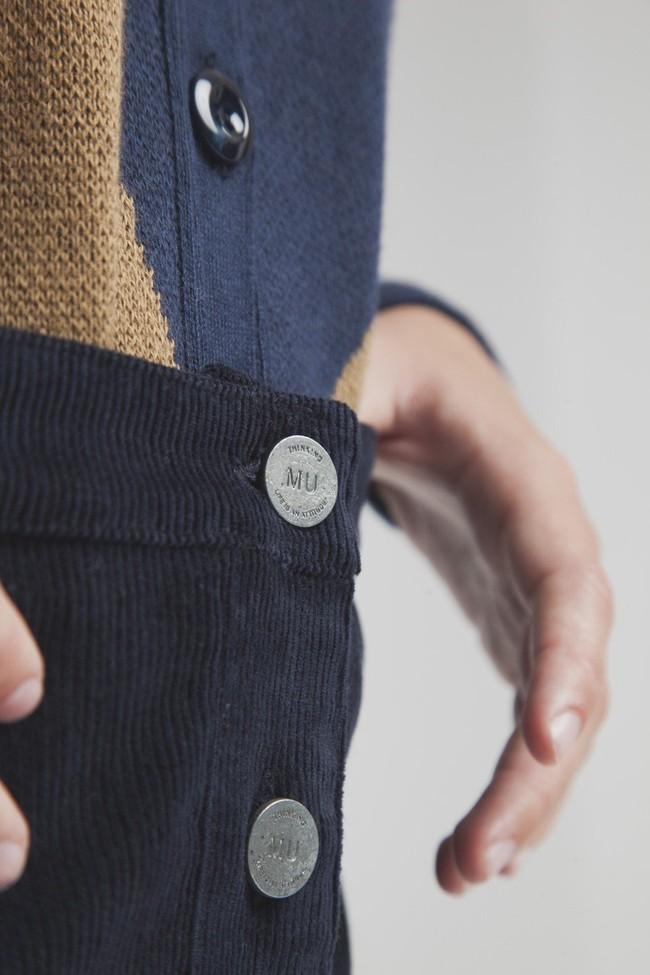 Jupe courte bleu foncé coton biologique - Thinking Mu num 1
