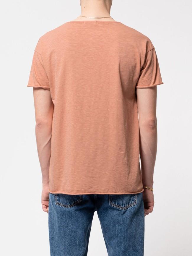 T-shirt ample pêche en coton bio - roger - Nudie Jeans num 2