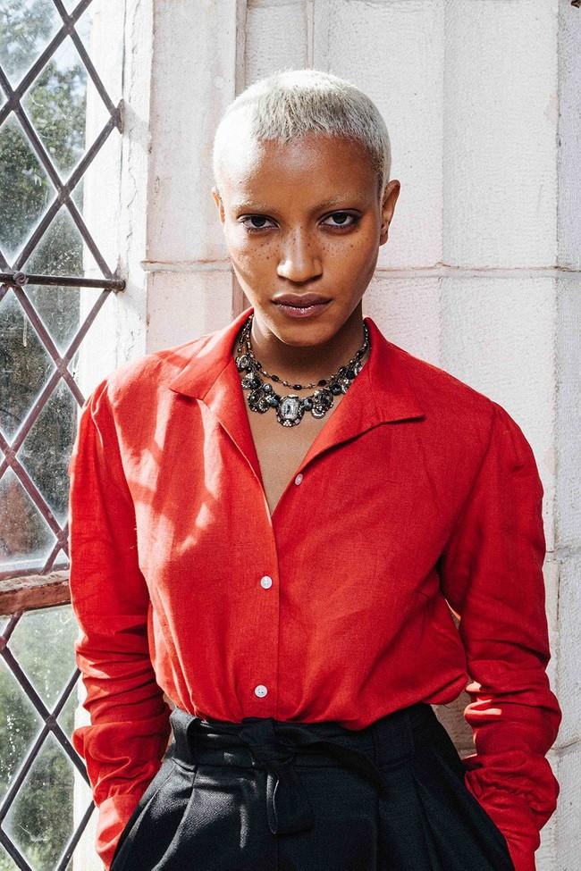 Chemise mao lin rouge - Les Récupérables