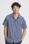 Chemise manches courtes rayée en coton bio - tom - Thinking Mu - 1