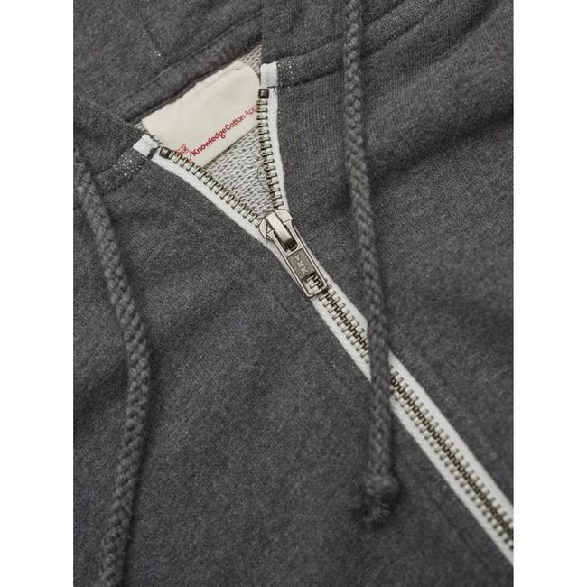 Veste zippée grise en coton bio - Knowledge Cotton Apparel num 2