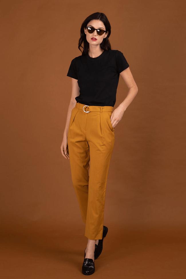 Pantalon tailleur casablanca jaune safran - 17h10 num 1